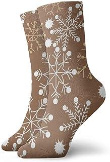Hunter qiang, Calcetines para mujeres y hombres, diseño sin costuras de motivos de invierno, gateos, estrellas, copos de nieve. Calcetines deportivos de 30 cm.
