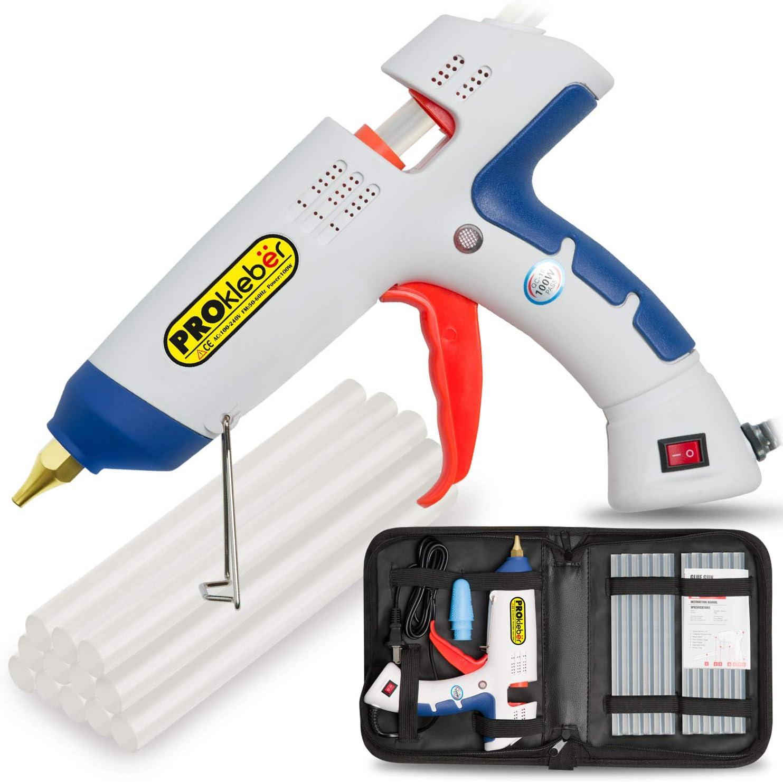 low-pricing PROkleber Hot Melt Glue Gun Kit Full Philadelphia Mall Carry Ba 100 Watt with Size