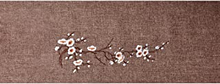 Tong Yue Chinese Rectangle Table Runner Embroidered Linen Tea Table Cloth,30x120CM