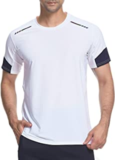 Men's Gym T-Shirt,Sports Short Sleeve top,Moisture Wicking Quick Dry Stretch Tee Breathable Running Tops for Men Gym Train...