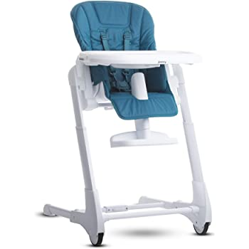 Joovy Foodoo High Chair, Reclinable Seat, Adjustable Footrest, 8 Height Positions, Turquoise