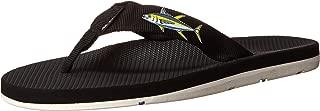 Scott Hawaii Men's Hokulea Sandals   Waterproof White Non-Marking No-Slip Boat Shoes   Guarantee All Day Arch Support Comfortable Slipper   Reef Walking Flip Flops for Men