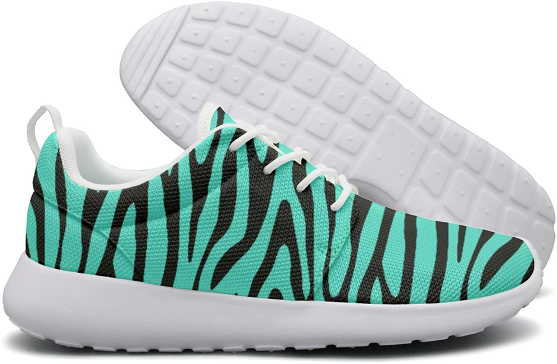 ERSER Green bluee Stripes Wide Running shoes for Women