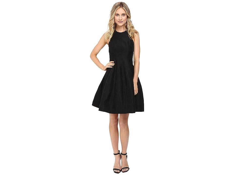 Halston Heritage Jacquard Structure Dress (Black) Women