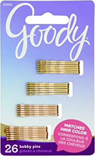 Goody Small Bobby Pins, Metallic Blonde, 26-Count (1941834)