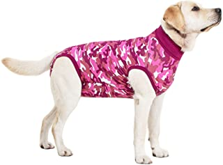 Suitical Recovery Suit Perro, S, Camuflaje Rosa