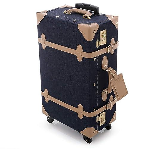 36e945daa5 LOWYA (ロウヤ) スーツケース トランクケース TSAロック メッシュポケット 2箇所取っ手 デニム