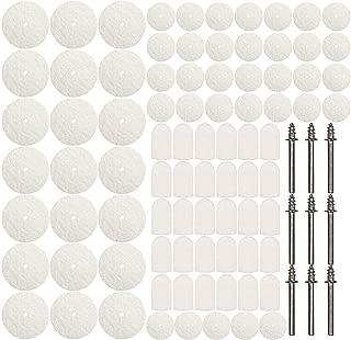 ZFE 88pcs Wool Felt Polishing Pad & Polishing Wheel,Point & Mandrel Kit For Dremel Rotary tools