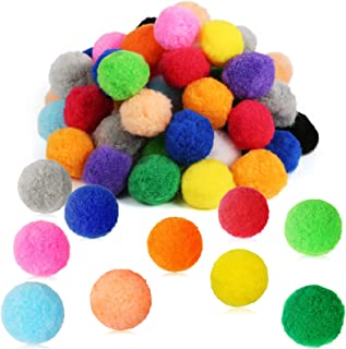 Pllieay 60pcs 15 Colors 2 Inch Very Large Assorted Pom Poms Arts and Crafts for DIY Creative Crafts Decorations