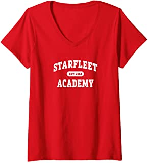 Femme Star Trek Starfleet Academy EST. 2161 T-Shirt avec Col en V