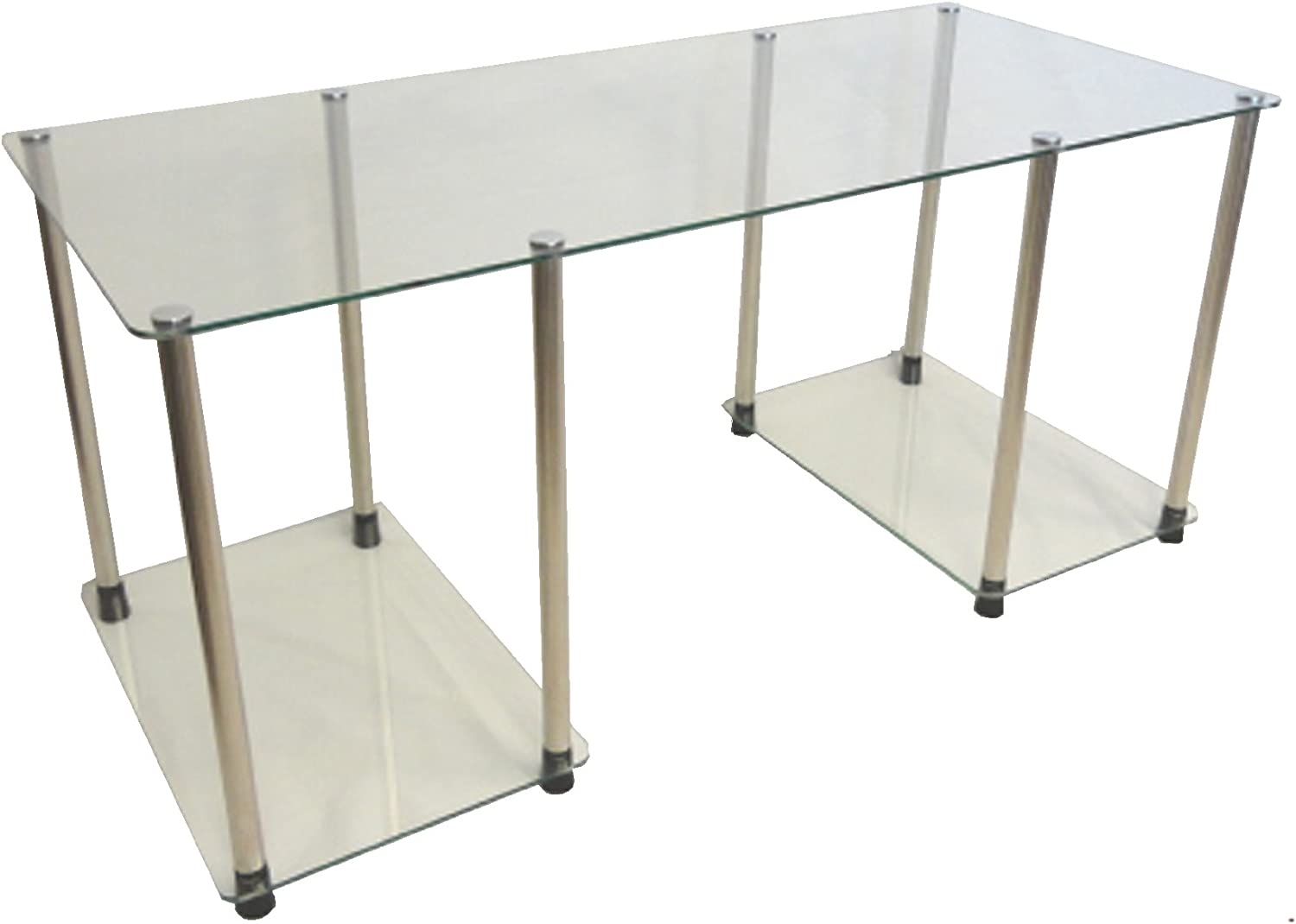 Convenience Concepts 151255 Classic Glass Coffee Table, Clear Glass
