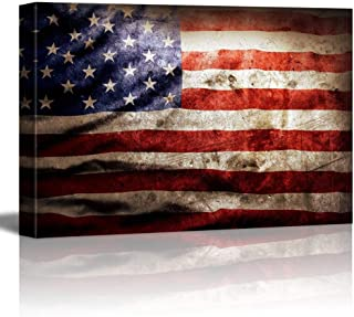 signwin - Canvas Wall Art - US Flag - Poster Giclee Wall Decorations for Living Room High Definition Printed - 16x24 inches