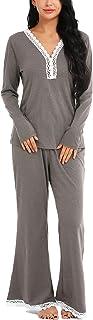ARANEE Pajamas Women's Long Sleeve Sleepwear Soft Pj Set