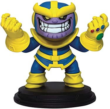 DIAMOND SELECT TOYS Gentle Giant Marvel Animated Thanos Resin Statue, Multicolor, 4 inches