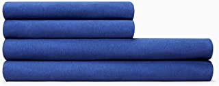 Calvin Klein Home Modern Cotton Harrison King Fitted Sheet, Cobalt