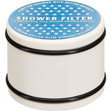 Amazon Basics Showerhead Replacement Filtration Cartridge - White