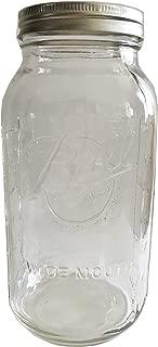 Ball Mason Jar-64 oz. Clear Glass Wide Mouth Ball Half Gallon (Pack of single)