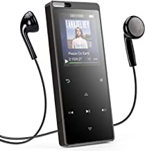 AGPTEK 16GB MP3 Player with Bluetooth, Touch Button Music Player with FM Radio Voice Recorder, Supports Independent Volume Control & Up to 128GB SD Card, X15ST, Black