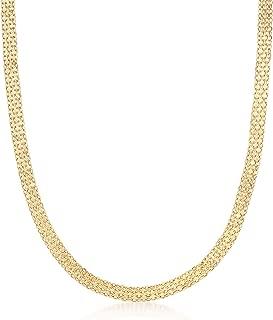 Italian 18kt Yellow Gold Bismark-Link Necklace
