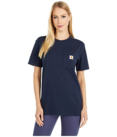 Carhartt WK87 Workwear Pocket Short Sleeve T-Shirt (Navy) Women