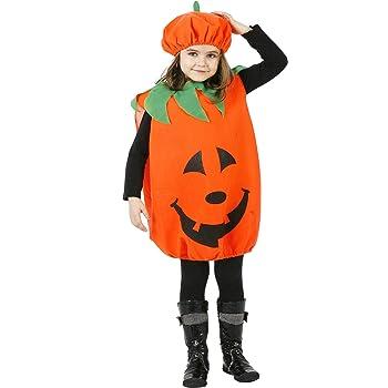 Atosa-98322 halloween Disfraz Calabaza 7-9, color naranja, 7 A 9 ...