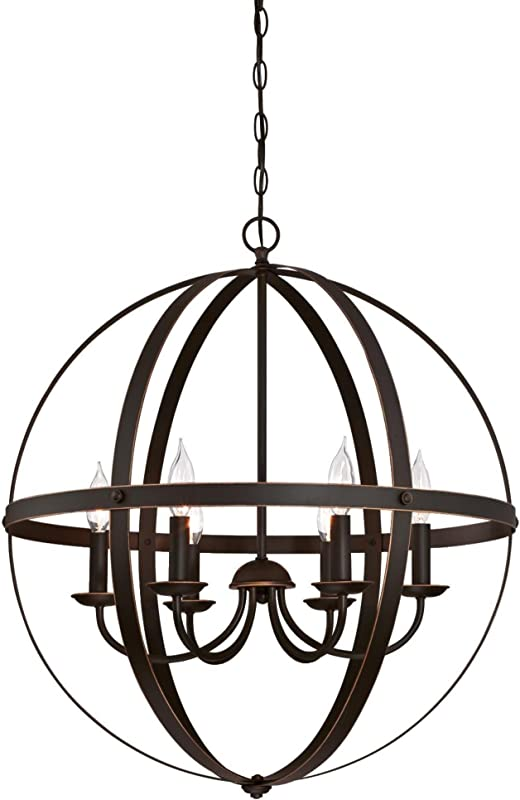 Westinghouse Lighting 6328200 Stella Mira Six Light Indoor Chandelier Oil Rubbed Bronze Finish With Highlights