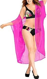 Women's Beach Blouse Tops Kimono Cardigan Bikini Cover Ups Solid Plain