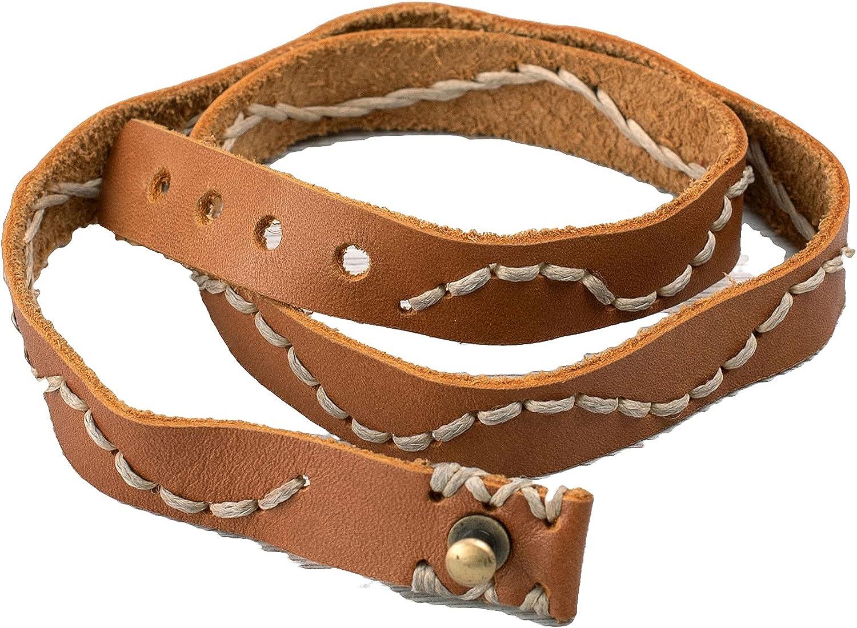 Handmade Unisex Cuff Wrap Leather Bracelet | Egyptian Design