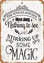 "MUNDERA Metal Vintage Tin Sign Decor-The Witch's Kitchen for Restaurant Bar Pub Home Retro Wall Signs 8"" X 12"""