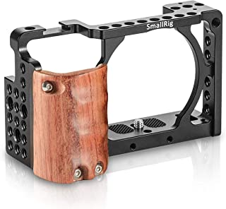 SMALLRIG a6300 Cage con Wooden Handgrip para Sony a6300 / a6000-2082