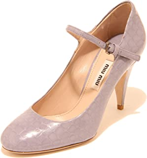 8124I Decollete Donna MIU MIU Lilla Viola cinturino Scarpe Shoes Women