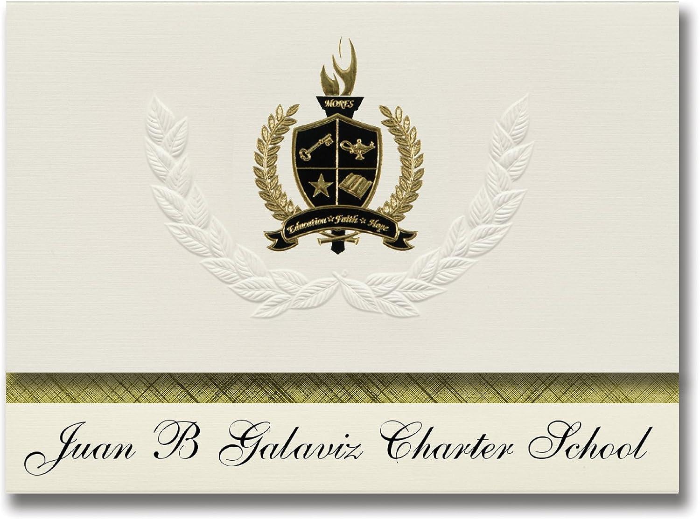Signature Ankündigungen Juan B GALAVIZ Charta Schule (Houston, TX) Graduation Ankündigungen, Presidential Stil, Elite Paket 25 Stück mit Gold & Schwarz Metallic Folie Dichtung B078WGP3R3    | Queensland