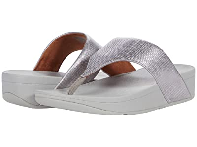 FitFlop Olive Textured Glitz (Silver) Women