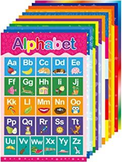 Yoklili Educational Preschool Posters for Toddlers and Kids Classroom Nursery Homeschool Kindergarten Learning Alphabet Nu...