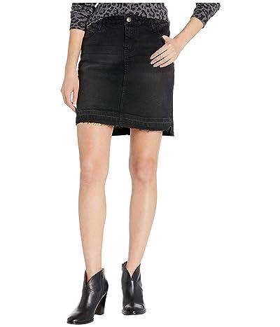 Stetson Black Stretch Denim Skirt (Black) Women