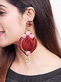 shibori silk earrings