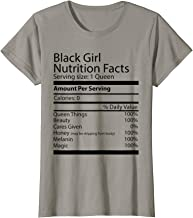 Black Girl Nutrition Facts Afro Queen T-Shirt