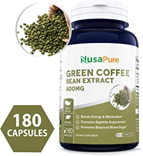 100 percent pure green coffee bean extract
