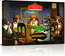Canvas Print Wall Art - Pokers Dogs Dogs Playing Cards - Wall Decor Modern Artwork Paintings Pictures for Living Room Stre...