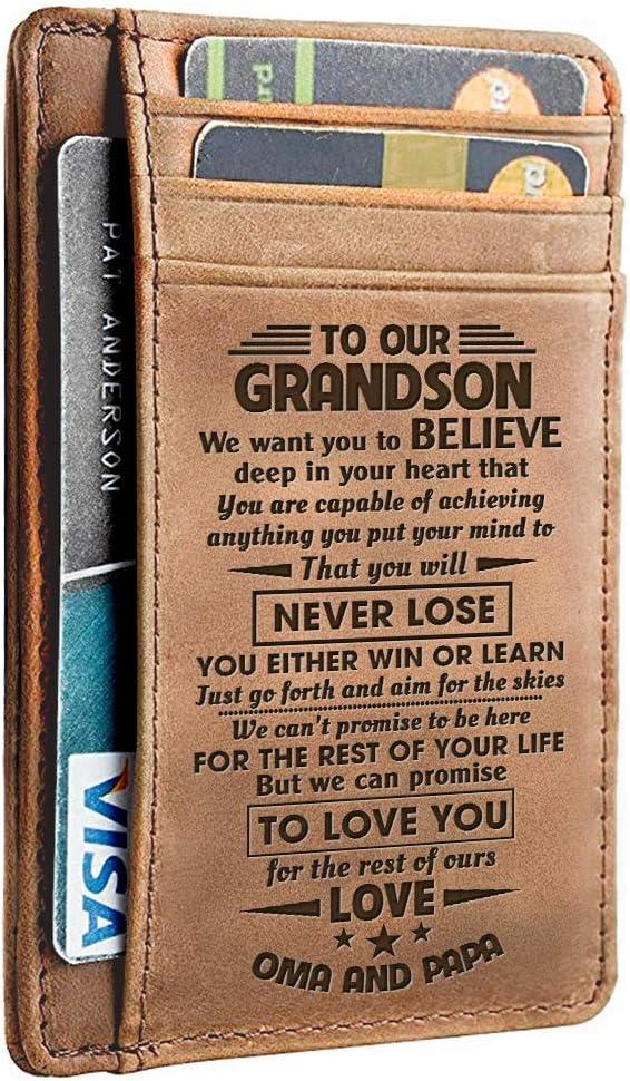 To Grandson Bracelet Gift From Grandpa Love Message For Grandson Birthday Xmas Wedding Anniversary Christmas School College Graduation Gifts