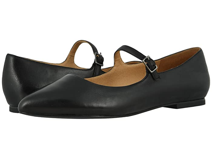 Retro Vintage Style Wide Shoes Trotters Hester Black Womens Shoes $69.99 AT vintagedancer.com
