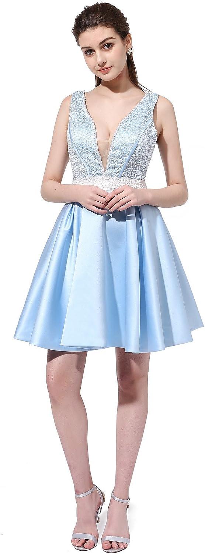 Topashe Women's Beaded Sequins Aline Short Homecoming Dress