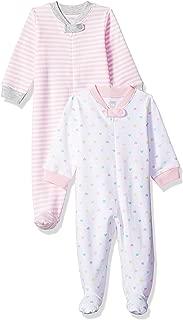 Amazon Essentials Girls' Baby 2-Pack Sleep and Play