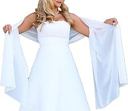 JAEDEN Stola Chiffon Schal f/ür Brautkleid Abendkleider Ballkleider Hochzeitskleider in verschiedenen Farben 45cmx220cm