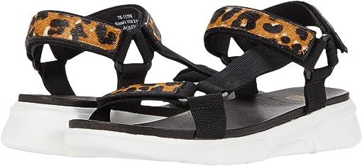 Leopard Haircalf/Black Webbing