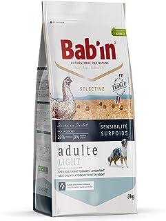 Bab'in Selective Adulte Light 12KG : Croquettes Premium pour Chiens Adultes - Amaigrissement - Soutien Articulaire - Riche...