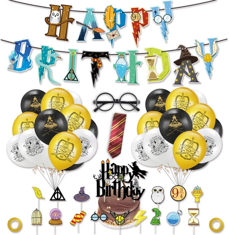 Manufacturer OFFicial shop Magical Wizard Birthday Party Mail order Harry Supplies Style Decorations