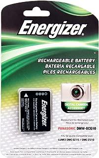 Energizer ENB-PG10 Digital Replacement Battery DMW-BCG10 for Panasonic Lumix DMC-TZ10, TZ28, ZR8 and ZS8 (Black)