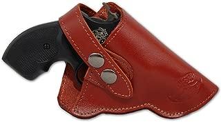 Barsony New Burgundy Leather OWB Holster for Snub Nose 2