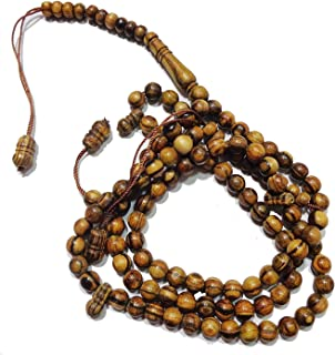 Oud Prayer Beads Misbaha Tasbih Tasbeeh Sibha Masbaha Sebha Subha 99 Beads Natural Round Wooden Islamic Muslim Islam Salah...